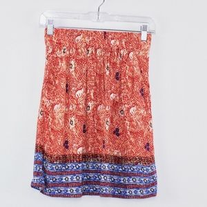 Cabi Women's Batik Print Short Skirt Pockets XS